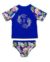 JANTZEN Girls 8 Watermelon Stripe 2-Pc Rashguard Bikini Swim Set NWT