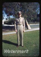 1944 red border kodachrome photo slide Army Military Airplane Pilot USAAF