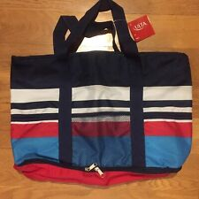New Nwt Ulta Oversized Insulated Cooler Fourth of July Red White Blue Tote Bag