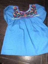 Mexican Shirt Turqouise Girls 2t