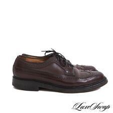 #1 MENS Vintage Florsheim Imperial Wine Shell Cordovan 93685 Wingtip Shoes 8.5