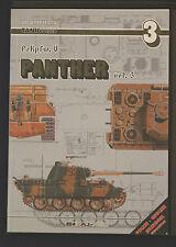 TANK POWER PzKpfw V PANTHER Vol 3 Waldemar Trojca First Ed1999 AJ Press Softback