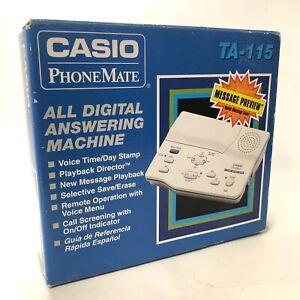 Casio PhoneMate TA-115 - All Digital Answering Machine - 1996 New Open Box