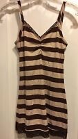 NWT BKE Brown & Tan Striped Lace Trimmed Cami Small
