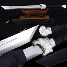 High Quality Chinese Longquan Sword Broadsword Knife High Manganese Steel Sharp