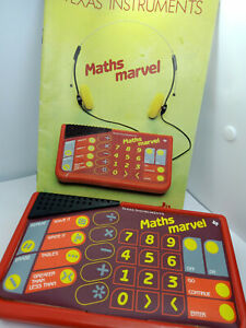 Texas Instruments Maths Marvel Retro Vintage Learning Educational Toy RARE TI