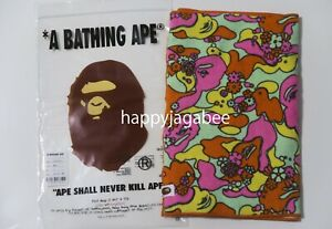 A BATHNIG APE Ladies' ABC CAMO FLOWER SPORT TOWEL From Japan New