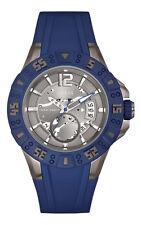 GUESS W0034G6 Herrenuhr Magnum - geschmeidiges Silikonband blau