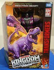 "Transformers Leader Class War for Cybertron Kingdom MEGATRON (Beast) Hasbro 7.5"""