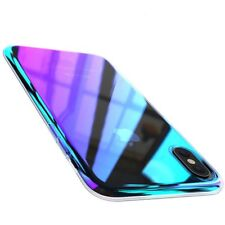 Wireless Charger iPhone X Case, FLOVEME Luxury Slim Fit Gradual Colorful Change