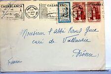 Lettre TIMBRE  MAROC  CASABLANCA     AV98
