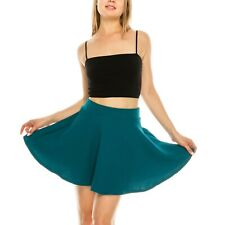 Women's Basic Versatile Stretchy Flared Casual Mini Skater Skirt