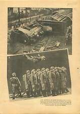 Railway Train Bruxelles Bruxelles-Calais /Wehrmacht Reichswehr 1937 ILLUSTRATION