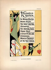 Affiches Etrangeres 1897 Stone Litho Poster for KEYNOTES SERIES MUSIC SHEETS