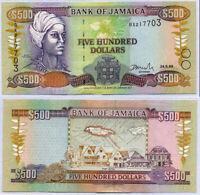 JAMAICA 500 DOLLARS 1999 P 77 XF