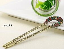 ,5 Colors,crystal Antique Flower Hair Forks,hair Sticks,hair Chopsticks,wedding