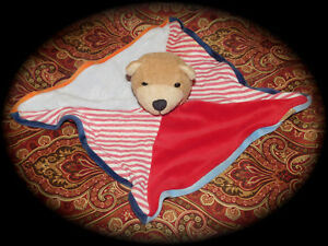 Security Blanket Bear German Plush Baby Rattle STERNTALER Germany RARE LOVEY TOY