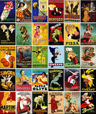30 Fridge magnets - Italian vintage advertising