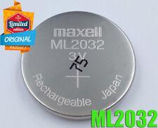 Brand New Maxell ML2032 Rechargeable 3V Battery For Logitech K750 Keyboard