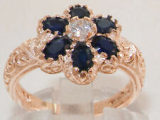 Anniversary Cluster Sapphire Fine Rings