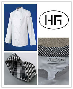 Chef Jacket Long Sleeves Classic Uniform Poly-cotton Hospitality Garments