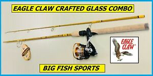 """EAGLE CLAW CRAFTED GLASS Spinning Rod/ Reel Combo 6'-6"""" #CG66MS2C FREE USA SHIP!"""