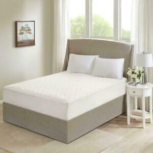 Beautyrest Cotton Deep Pocket Heated Mattress Pad - White - Size:king