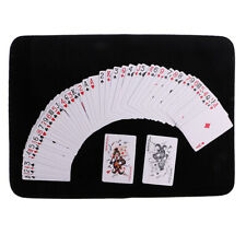 Black Anti-Slip Poker Card Mat Close-up Magic Tricks Magician Utility Prop