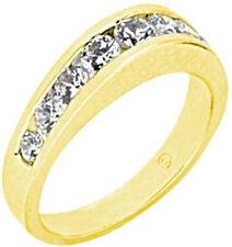 1.05 carat 9 Diamond Wedding Ring Anniversary 14k Yellow Gold Band VS clarity