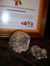 Woodland Suprises Franklin Mint Jacqueline Smith Figurine 1984 Beaver