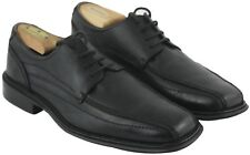 Franco Fortini Mens Black Leather Lace Up Boyd Loafers Dress Shoes Sz 8M