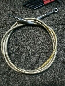 """HARLEY DAVIDSON FXE Hydraulic Clutch BRAKE Cable Stainless Steel 10+ 75"""""""