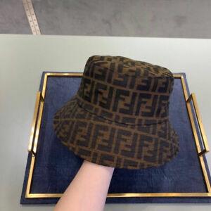 New Women's Bucket Hat Cap Brown Size M