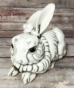 Vintage Freeman McFarlin Rabbit Bunny Figure in Antique White Pottery