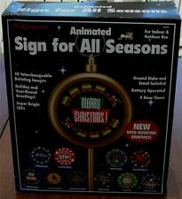 Mr. Christmas Interchangeable Lighted Animated Sign - BRAND NEW IN BOX