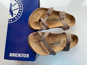 Birkenstock Womens Leather Sandal - Brown