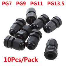 10Pcs/Pack PG7 PG9 PG11 PG13.5 Black Waterproof IP68 Cable Gland Wire Connector