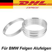 4 Zentrierringe 74,1-72,6 Aluminium Alu Zentrierring Für BMW Felgen Alufelgen