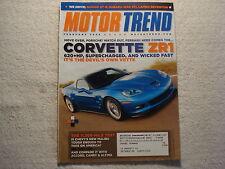 Motor Trend 2008 February Corvette ZR1 Malibu Accord Camry Altima Nissan GT-R