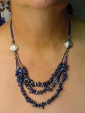 BUTW Lapis Lazuli Afganistan tribal necklace 9880A