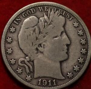 1911-D Denver Mint Silver Barber Half Dollar