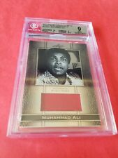 MUHAMMAD ALI THE GREATEST LEAF GRADED BGS MINT 9 EVENT WORN RELIC CARD #d24/70