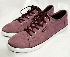 Vans W 10 Chukka Low Cut Ultra Cush Ultracush Skate Burgundy Tennis Shoe Sneaker