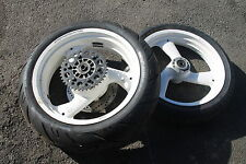 DUCATI 900SS 900 750 SS (88-90) SPORT WHITE FRONT AND REAR WHEELS/NEW REAR TYRE