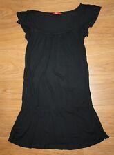 VGC EDC Esprit Black Tunic Top Vest size 34 so fits UK 8 next day post