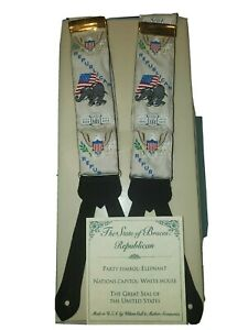 RARE in original package Republican Political Suspenders Wilson, Call & Mather
