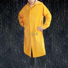Adult Girls Yellow Raincoat Mac Gloss Wet LOOK Shiny Vinyl PVC Jacket Poncho XXL
