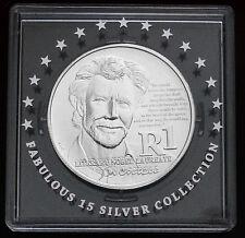 SOUTH AFRICA 1 Rand 2011 Silver BU Nobel Prize Winner - John Maxwell Coetzee