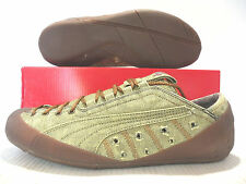 PUMA SCRILL DENIM WASHED LOW UNISEX MEN SIZE 6 = WOMEN SIZE 7.5 GREEN SHOES NEW