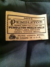 "Miss Pendleton Green Blazer 100% Virgin Wool Made In USA ""See Measurements"""